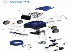 Robot limpiafondos eléctrico Vortex 4 Zodiac recambios