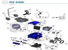Robot limpiafondos Zodiac RV4400 recambios