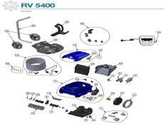 Robot limpiafondos Zodiac RV5400 Vortex Pro 4WD Recambios