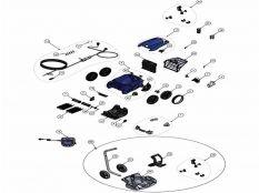 Robot Limpiafondos Zodiac RV5600 Vortex Pro 4WD Recambios