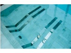 Tumbona piscina Fitstar en acero inoxidable