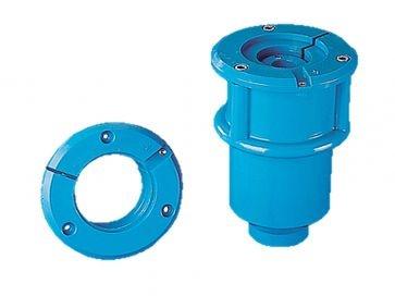 Anclaje para ducha piscina Astralpool Ø 63 con doble rociador o fluxómetro
