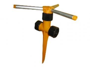 Aspersor de riego gardena rotativo 3 brazos de aluminio con pincho