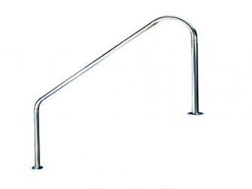 Barandilla 2 curvas grande para piscina en acero inoxidable