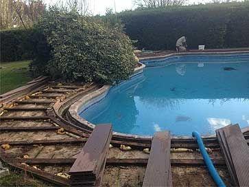 Cambio de suelo o playa de piscina
