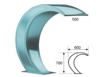 Cascada para piscina color personalizable en composite