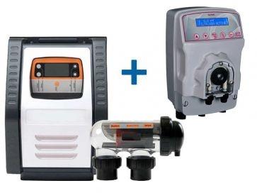 Clorador salino Salt Expert E-Series + Bomba pH MyPool Ctx Certikin