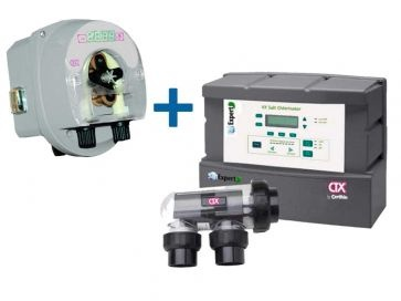 Clorador salino Salt Expert Vx + Bomba pH E-Series Ctx Certikin