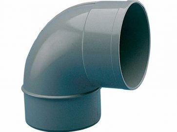Codo 87º evacuación derivado de PVC 125 mm H-M