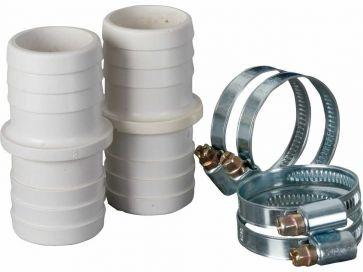 Conectores de union manguera de limpiafondos y abrazaderas Ø 38 mm Gre