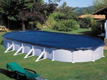 Cubierta de invierno ovalada Gre para piscinas desmontables