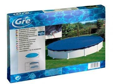 Cubierta de invierno circular Gre para piscinas desmontables