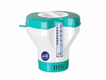 Dosificador flotante con termómetro pastillas de cloro Gre
