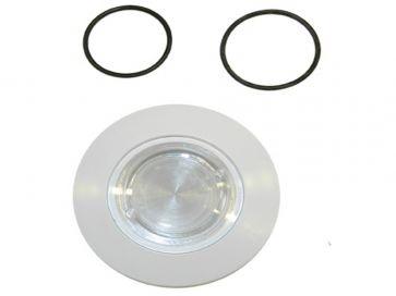 Embellecedor foco piscina Astralpool en ABS blanco Ø 8,8 cm