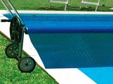 Enrollador Gre para manta térmica de piscinas