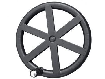 Enrollador telescópico en arco con ruedas reforzadas para manta solar piscina