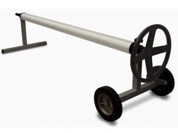 Enrollador telescópico Kalu con rueda para manta solar de piscina