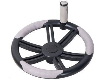Enrollador telescópico Pro con rueda para manta solar de piscina