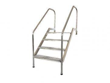 Escalera piscina fácil acceso Astralpool PMR en acero inoxidable