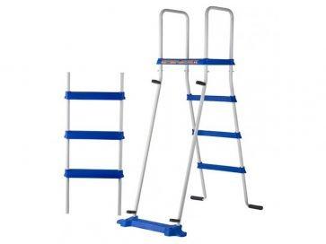 Escalera piscina elevada Gre tipo tijera 134 cm 2x3 peldaños con plataforma