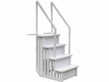 Escalera sintética piscina de fácil acceso Gre