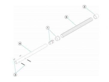 Excéntrica y Embellecedor de mango telescópico 4 - 5 m Astralpool