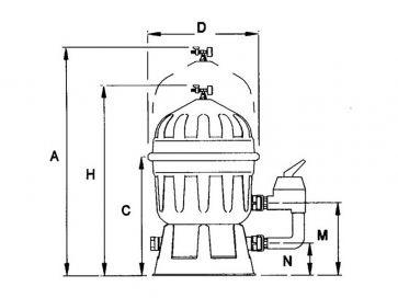 Filtro de diatomeas piscina Astralpool Clarity Ø 600 mm