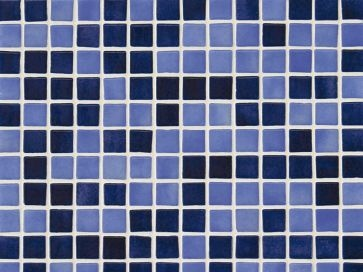 Gresite para piscinas Azul mix niebla 25 x 25 mm