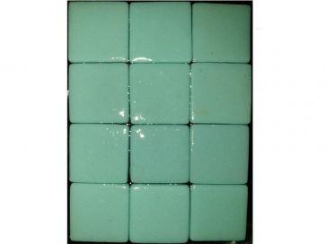 Gresite para piscinas azul verdoso liso 25 x 25 mm