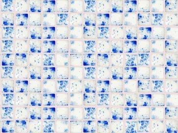 Gresite para piscinas blanco y azul 25 x 25 mm