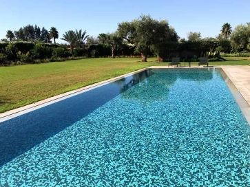 Gresite para piscinas mix blanco, beige y negro 25 x 25 mm
