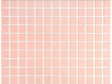 Gresite para piscinas rosado liso 25 x 25 mm