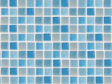 Gresite piscina barato azul niebla 2001 - 25 x 25 mm