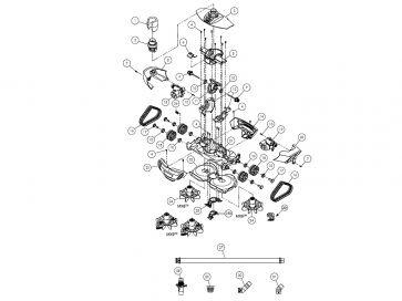 Robot Limpiafondos Hidráulico Zodiac Mx9 (recambios)