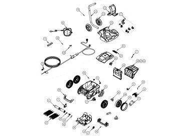 Recambios robot limpiafondos eléctrico Alpha RA 6300 iQ Zodiac