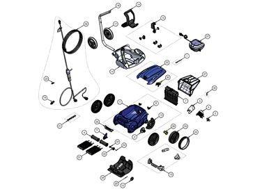 Recambios robot limpiafondos eléctrico RV 5380 Vortex Pro 4WD Zodiac