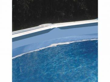 Liner azul para piscina ovalada Gre 75/100 - Altura 120 - Sistema overlap