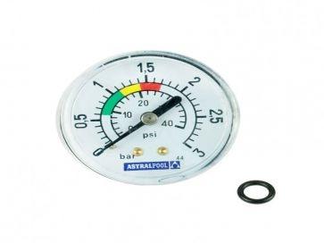 Manómetro filtro piscina Astralpool con conexión posterior de 1/8