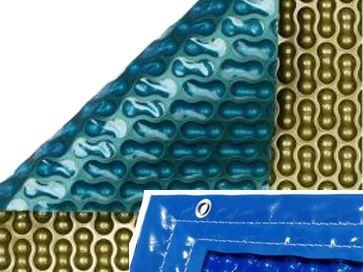 Manta térmica piscina barata GeoBubble Oro 500 micras con orillo