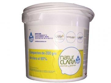 Pastillas de cloro 200 g 90% Natur Clara