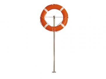 Pie para soporte de aro salvavidas de piscina acero inoxidable Aisi 304L