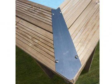 Piscina desmontable madera rectangular Evora Gre 6,20 x 4,20 x 1,33 m