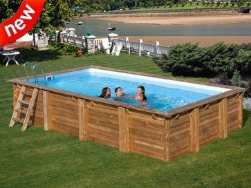 Piscina enterrada madera rectangular Braga Gre