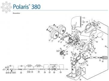 Recambios limpiafondos de presión Polaris 380