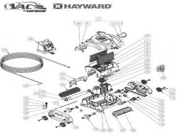 Recambios robot limpiafondos eléctrico Evac Pro, Sharkvac XL y Atlantis XL Hayward