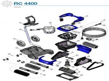 Recambios de robot limpiafondos eléctrico RC 4400 Cyclonx Zodiac