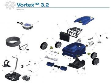 Robot limpiafondos eléctrico Vortex 3.2 Zodiac recambios