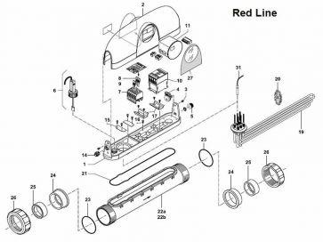 Recambios del calentador eléctrico piscina Zodiac Red Line