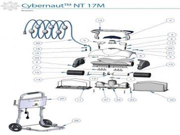 Recambios robot limpiafondos eléctrico Cybernaut NT Zodiac