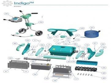 Recambios robot limpiafondos eléctrico Indigo Zodiac